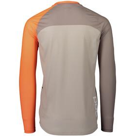 POC MTB Pure LS Jersey Men zink orange/moonstone grey/light sandstone beige